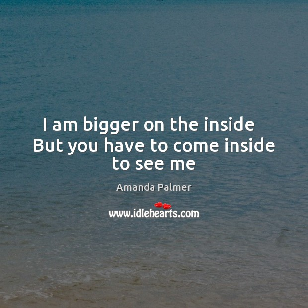 Image, I am bigger on the inside   But you have to come inside to see me