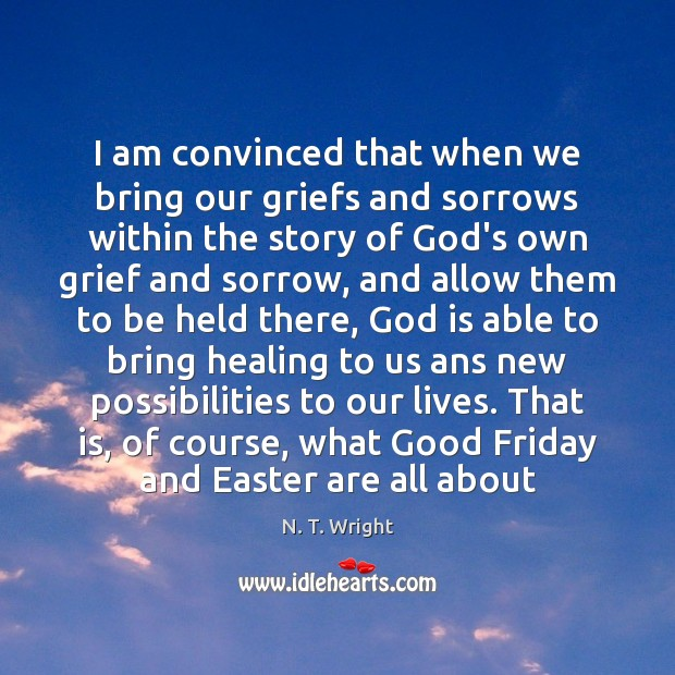 I am convinced that when we bring our griefs and sorrows within Easter Quotes Image