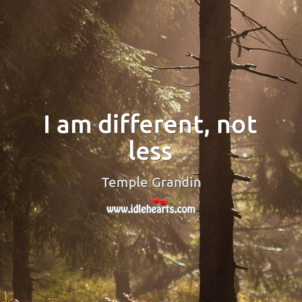 I am different, not less Image