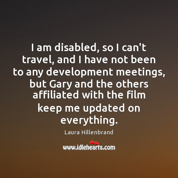 Image, I am disabled, so I can't travel, and I have not been