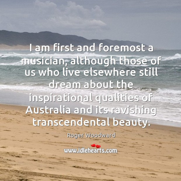 I am first and foremost a musician, although those of us who Image