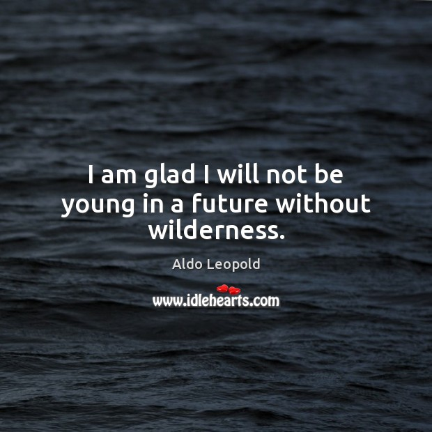 I am glad I will not be young in a future without wilderness. Image