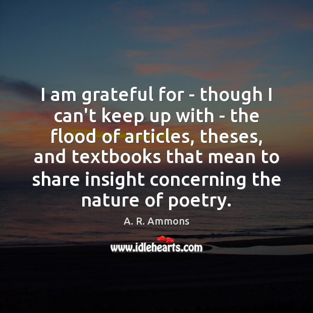 I am grateful for – though I can't keep up with – Image