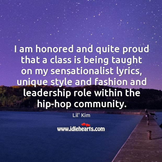 I am honored and quite proud that a class is being taught Image