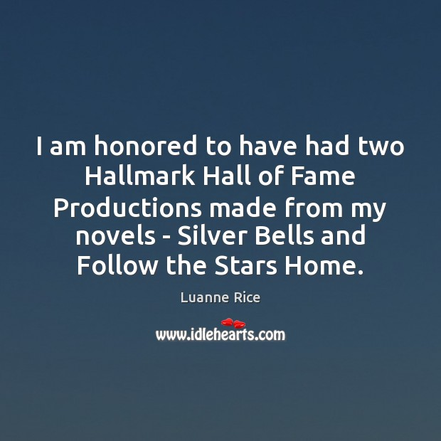 I am honored to have had two Hallmark Hall of Fame Productions Image