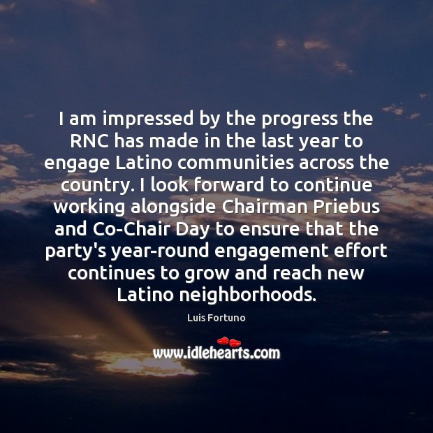 I am impressed by the progress the RNC has made in the Image