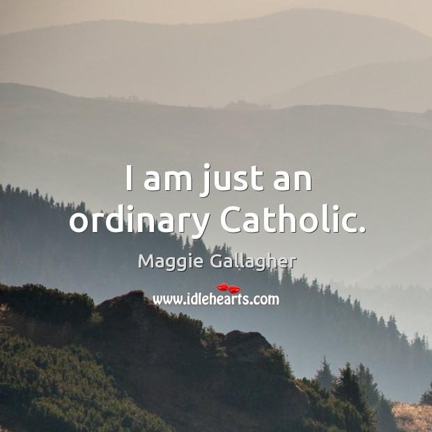 Image, I am just an ordinary catholic.