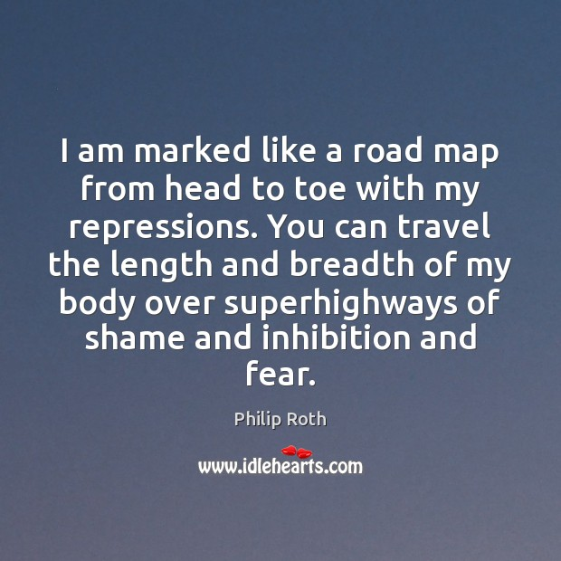 I am marked like a road map from head to toe with Image