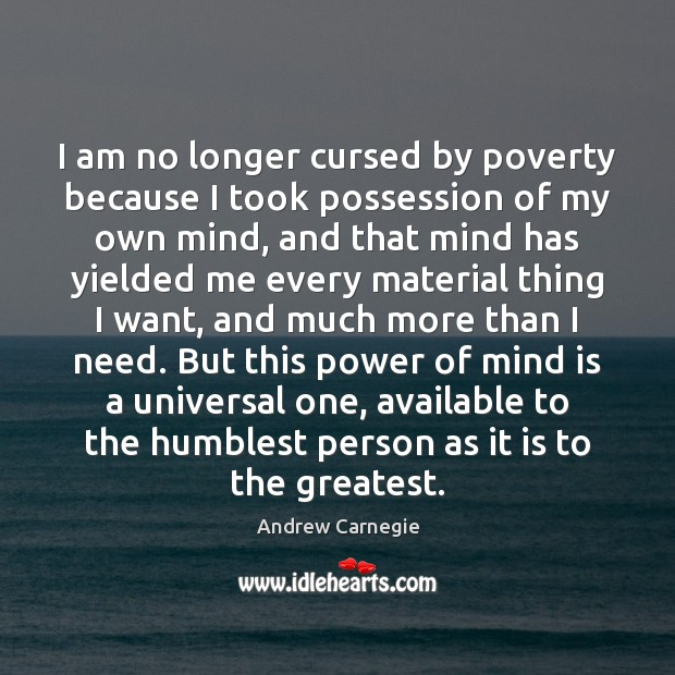 I am no longer cursed by poverty because I took possession of Image