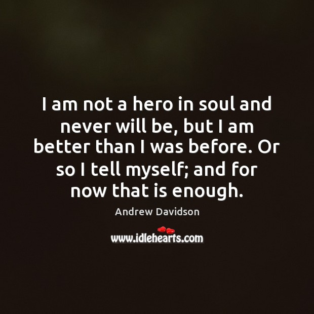Image, I am not a hero in soul and never will be, but
