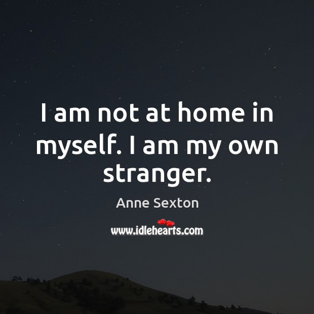 I am not at home in myself. I am my own stranger. Image