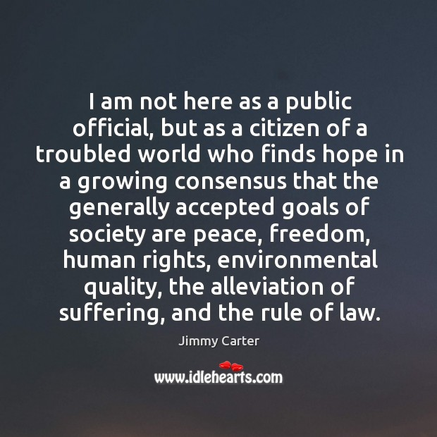 I am not here as a public official, but as a citizen Image