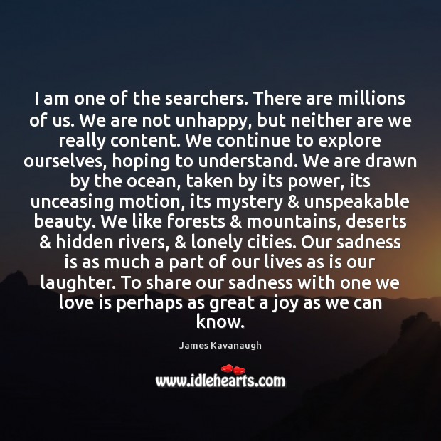 I am one of the searchers. There are millions of us. We Image