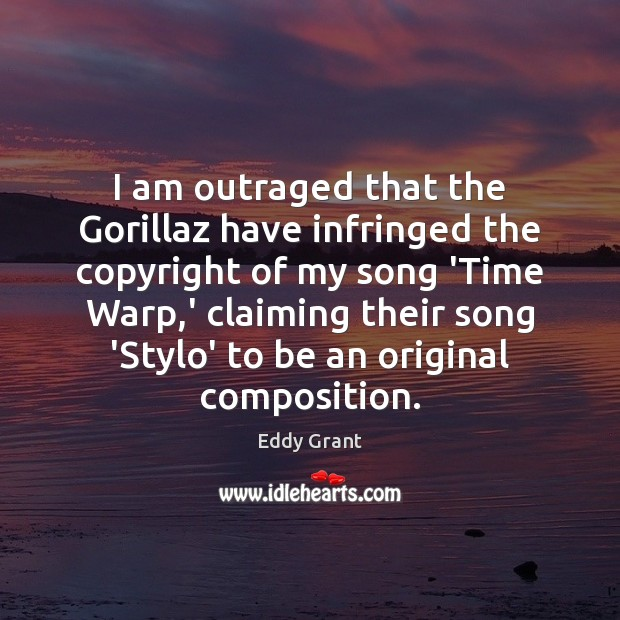 I am outraged that the Gorillaz have infringed the copyright of my Image