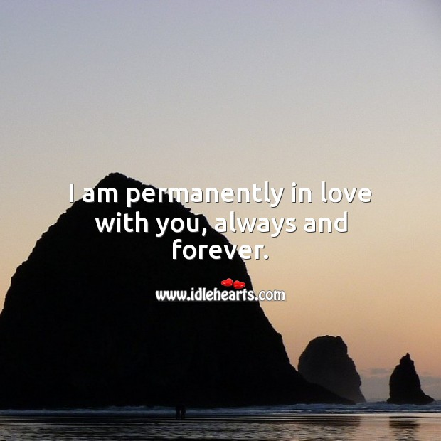 Image, I am permanently in love with you, always and forever.