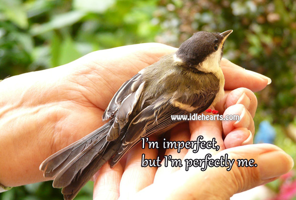 I'm imperfect, but I'm perfectly me. Confidence Quotes Image