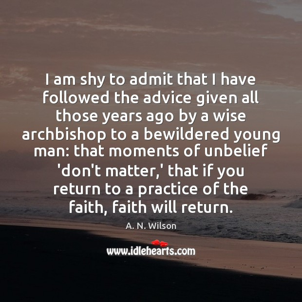 Image, I am shy to admit that I have followed the advice given