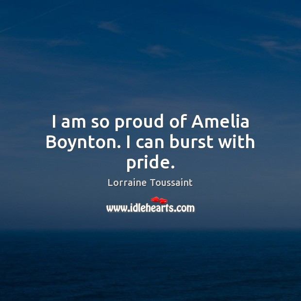 Image, I am so proud of Amelia Boynton. I can burst with pride.