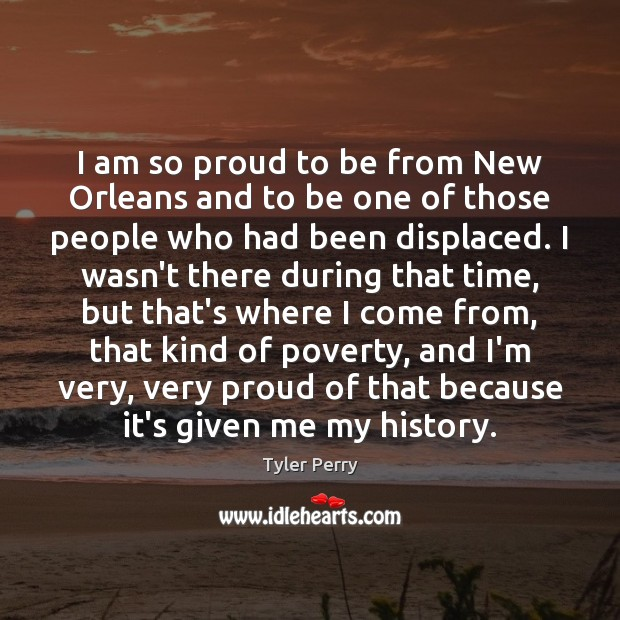 I am so proud to be from New Orleans and to be Image