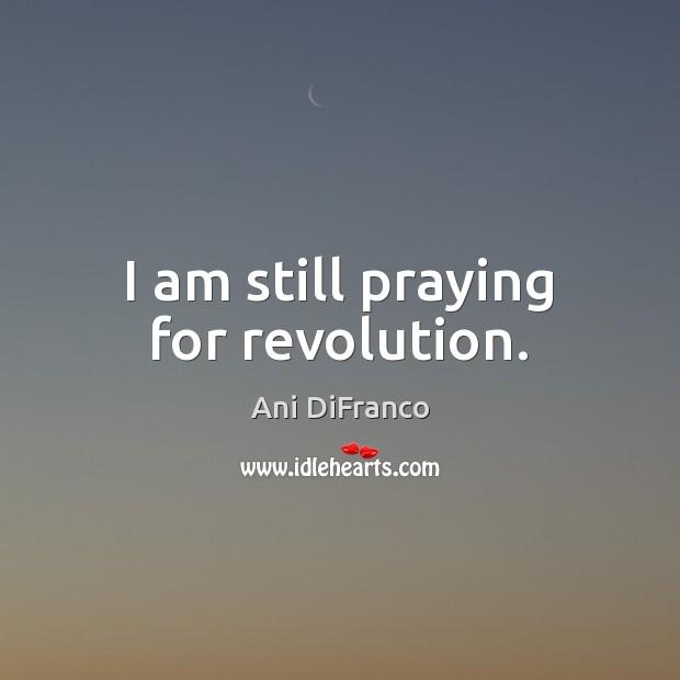 I am still praying for revolution. Ani DiFranco Picture Quote