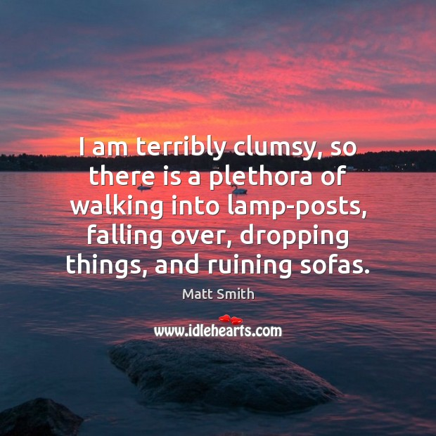 I am terribly clumsy, so there is a plethora of walking into Image