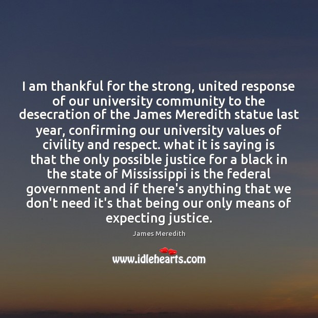 I am thankful for the strong, united response of our university community Image