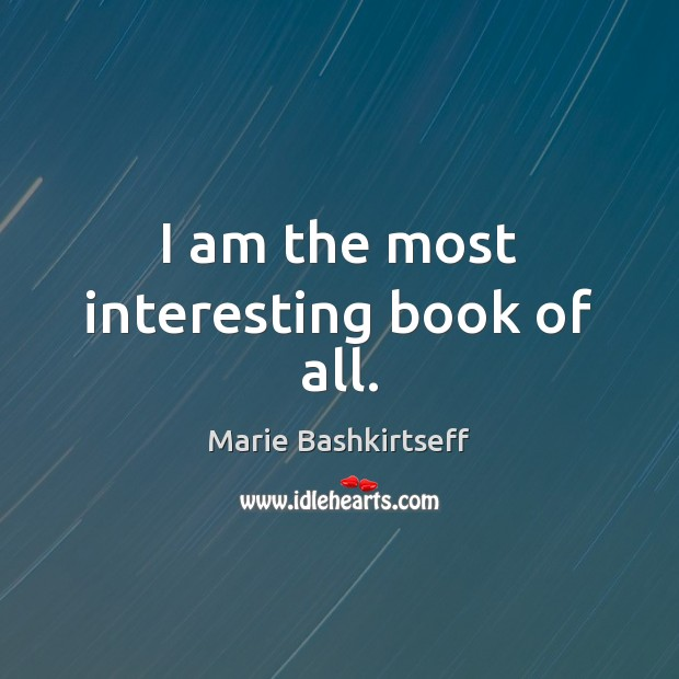 I am the most interesting book of all. Image