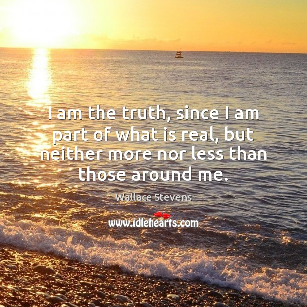 I am the truth, since I am part of what is real, Image