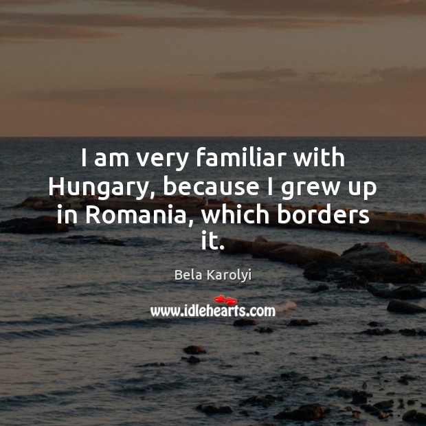 Image, I am very familiar with Hungary, because I grew up in Romania, which borders it.