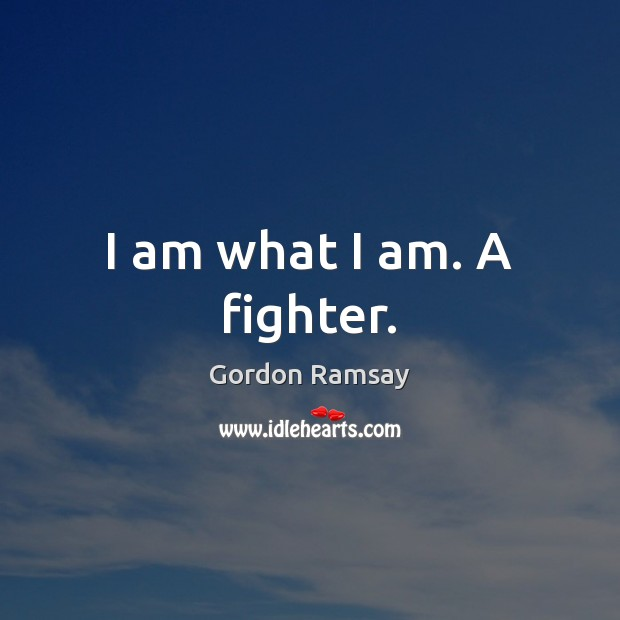 I am what I am. A fighter. Image