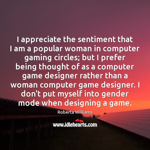I appreciate the sentiment that I am a popular woman in computer Image