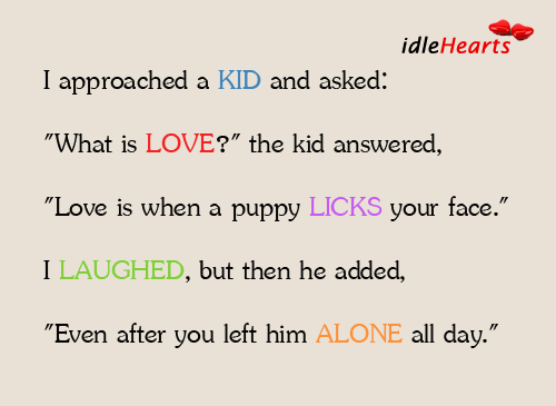 Kids version of love Image