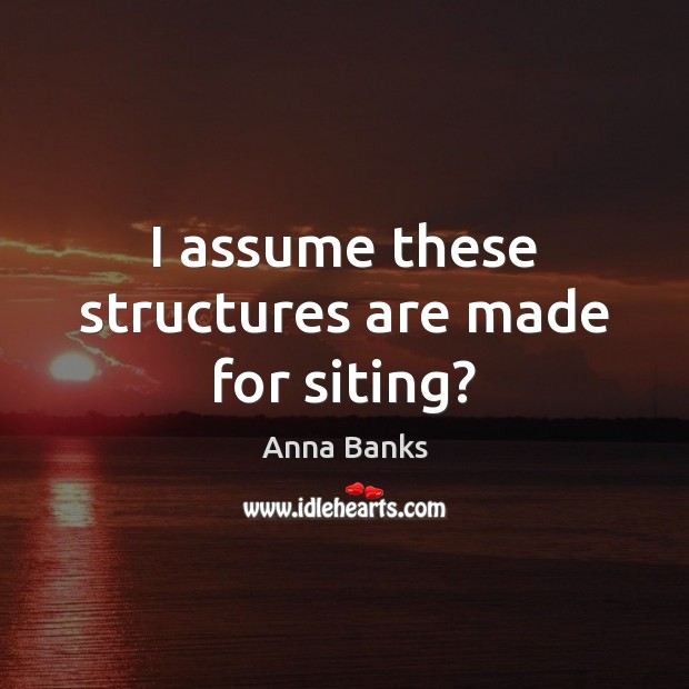 Image, I assume these structures are made for siting?