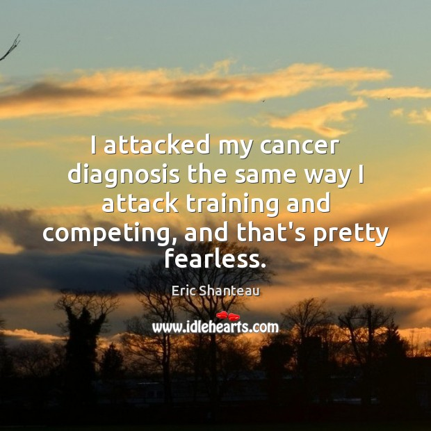 Image, I attacked my cancer diagnosis the same way I attack training and