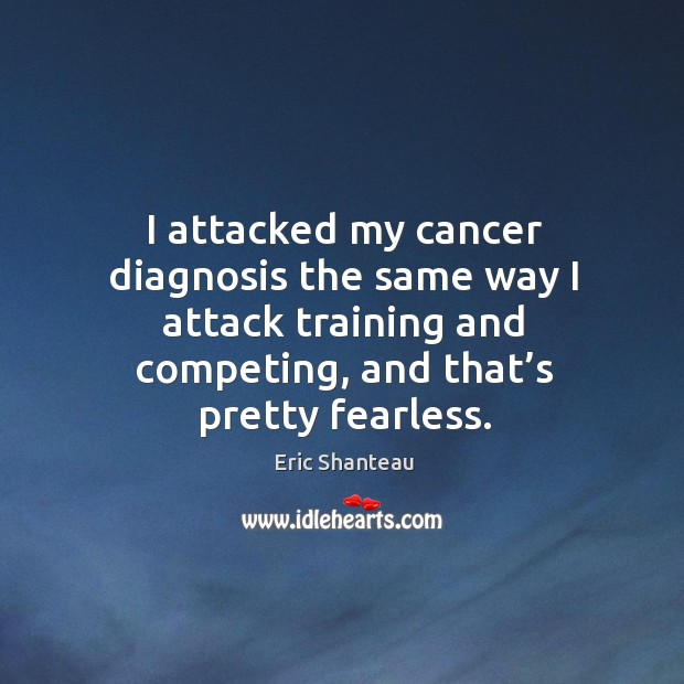 I attacked my cancer diagnosis the same way I attack training Image