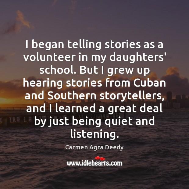 I began telling stories as a volunteer in my daughters' school. But Image