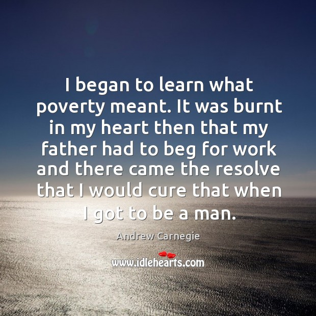 Image, I began to learn what poverty meant. It was burnt in my