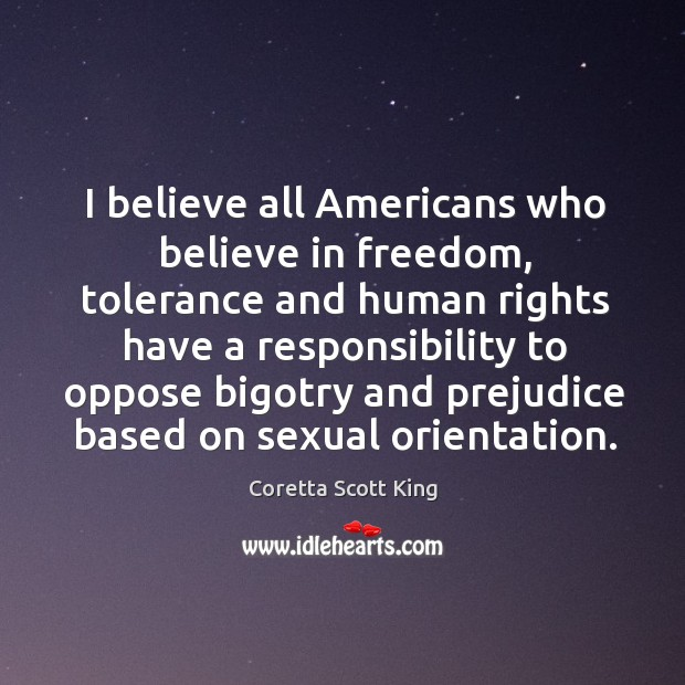 I believe all americans who believe in freedom Image