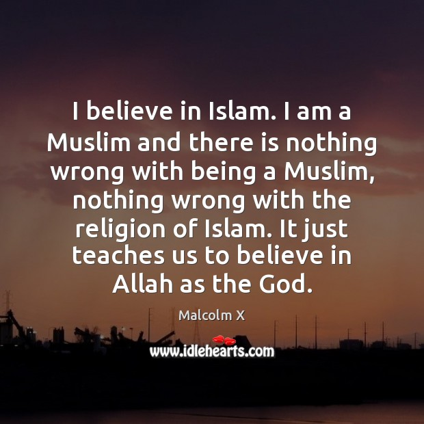 I believe in Islam. I am a Muslim and there is nothing Malcolm X Picture Quote