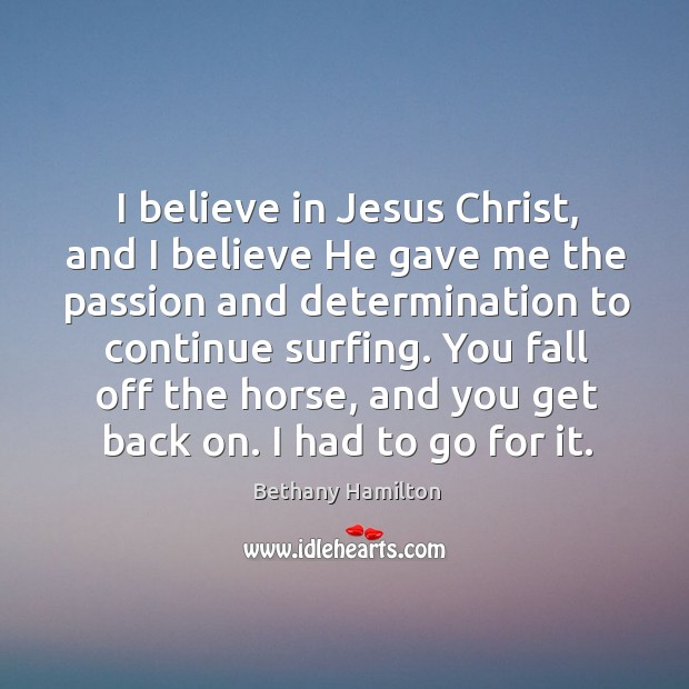 I believe in Jesus Christ, and I believe He gave me the Image