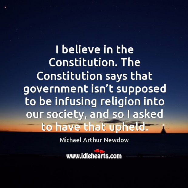 Image, I believe in the constitution.