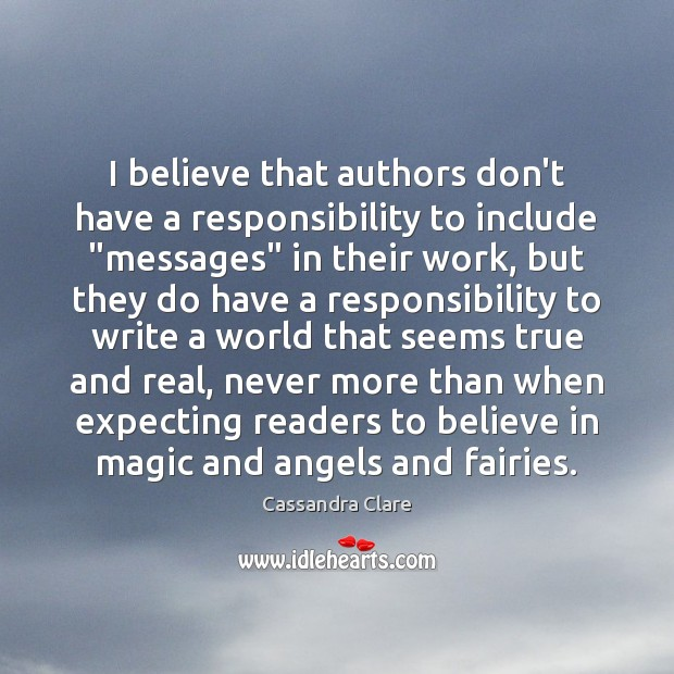 """I believe that authors don't have a responsibility to include """"messages"""" in Image"""
