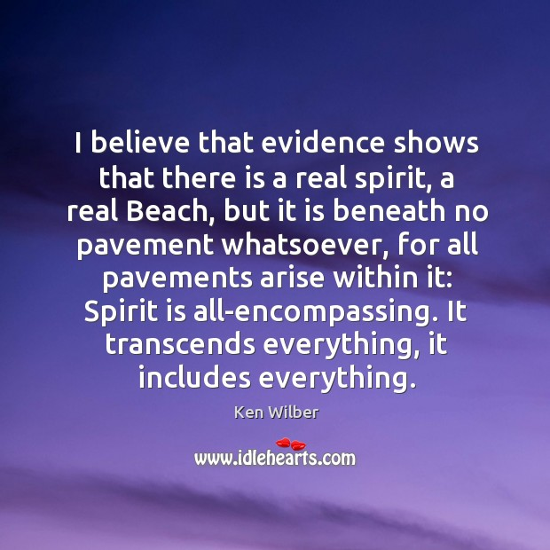 Image, I believe that evidence shows that there is a real spirit, a