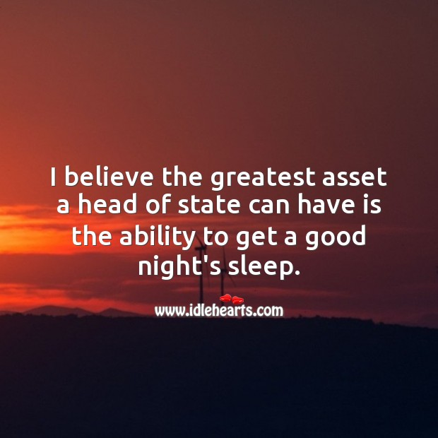 Image, I believe the greatest asset a head