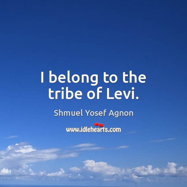 I belong to the tribe of Levi. Image