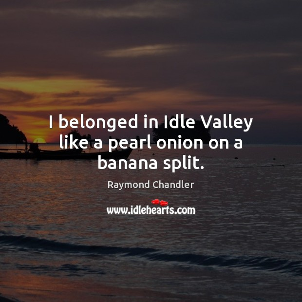 Image, I belonged in Idle Valley like a pearl onion on a banana split.