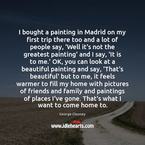 Image, I bought a painting in Madrid on my first trip there too