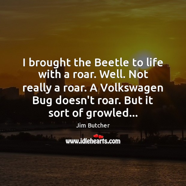 Image, I brought the Beetle to life with a roar. Well. Not really
