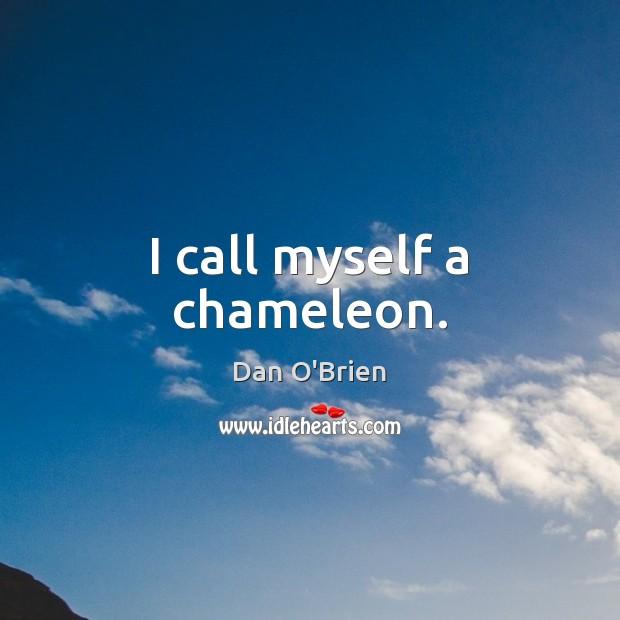 I call myself a chameleon. Image