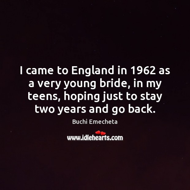 Image, I came to England in 1962 as a very young bride, in my